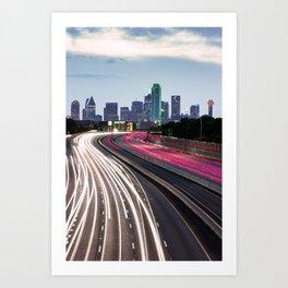 Spaghetti Skyline - Dallas Texas Art Print