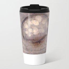 Lost Eye - Mixed Media Acrylic Abstract Modern Art, 2009 Metal Travel Mug