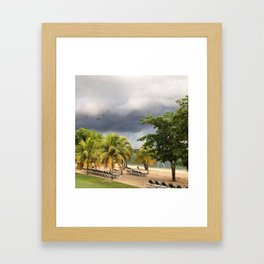The Jamaican Storm Framed Art Print