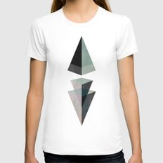 Solids Invasion White Womens Fitted Tee SMALL