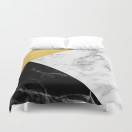 Marble & Gold Collage Duvet Cover