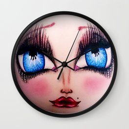 The Face of Pearlia Diamanté Wall Clock