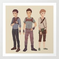 maze runner Art Prints featuring Maze Runner by Olivia Chin Mueller