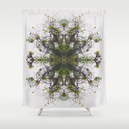 Epiphyte Kaleidoscope Shower Curtain