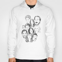 parks and recreation Hoodies featuring Parks and Recreation 'Rec a Sketch' by Moremeknow