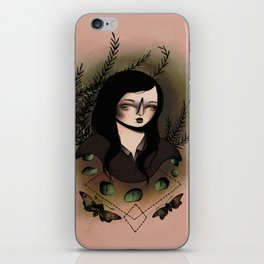 Girl With Moths iPhone Skin