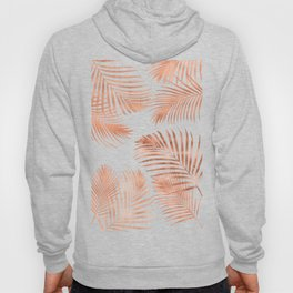 Rose Gold Palm Leaves Hoody