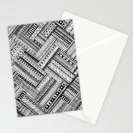 Tribal Ethnic Style  Black & White Stationery Cards