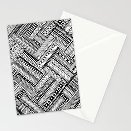 Tribal Ethnic Style  Black & White Stationery Cards