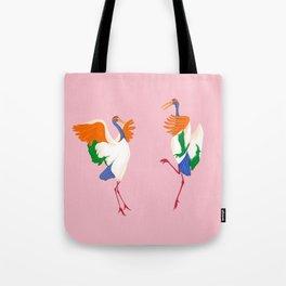Japanese Crane Ritual Tote Bag