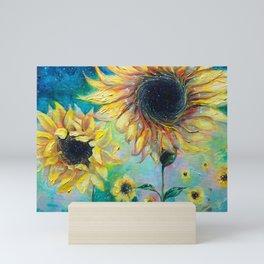Supermassive Sunflowers Mini Art Print