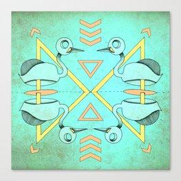 Aztec swan Canvas Print