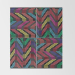 Geometric pattern 1 Throw Blanket