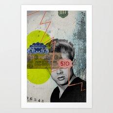 Public Figures - James Dean Art Print