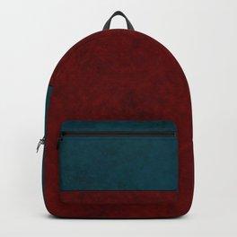 Blue and orange suede Backpack