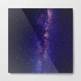 Space milky way - purple sky Metal Print