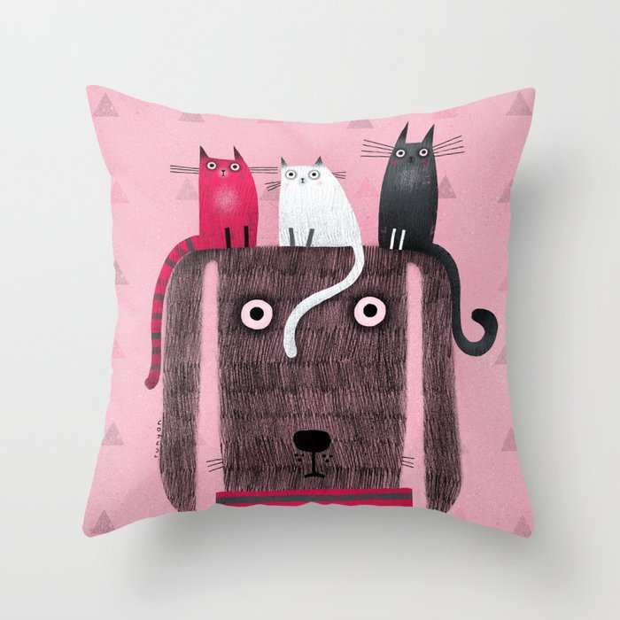 TRI-TOP Throw Pillow