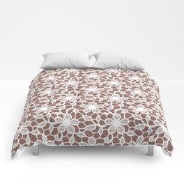 White Lace Seamless Pattern. Comforters