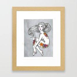 Inky 5 Framed Art Print