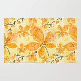 Autumn leaves #11 Rug