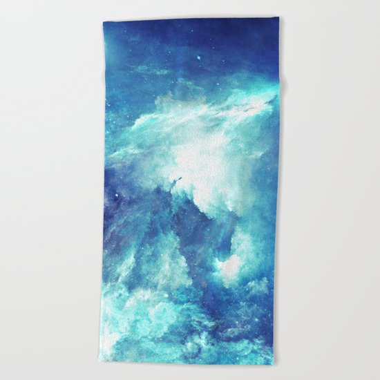 Stardust Waves Beach Towel