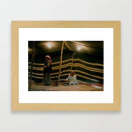 Bedouin Tents Framed Art Print