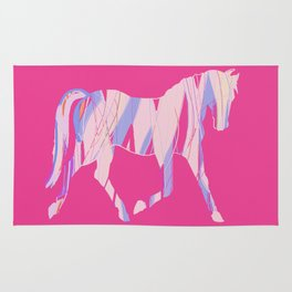 Ribbon Horse on Pink Rug