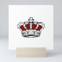 Crown - Red Mini Art Print