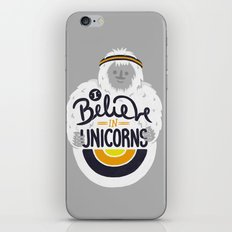 I believe in Unicorns iPhone & iPod Skin
