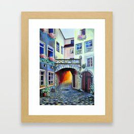 Vintage Retro Luxembourg in a Bohemian Style Framed Art Print