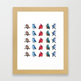 L'il Lard Butts - all the fat birds Framed Art Print