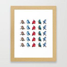 L'il Lard Butts - all the fat birds Framed Art Print
