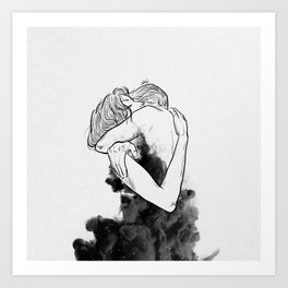 Till the last star you have me. Art Print