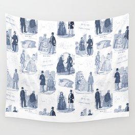 Biedermeier Blue Romance Wall Tapestry