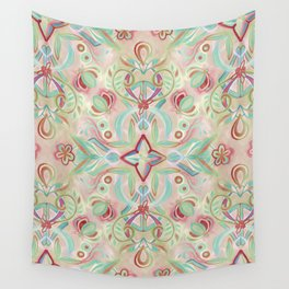 Soft Marsala and Sage Pattern Wall Tapestry