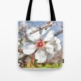 Almond Blossom Study Watercolor Tote Bag