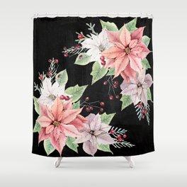 Poinsettia Shower Curtain