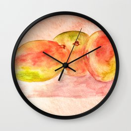 Mango Watercolor Wall Clock