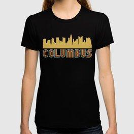 Vintage Style Columbus Ohio Skyline T-shirt