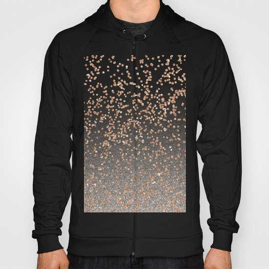 Glitter sparkle mix - rose gold & silver Hoody