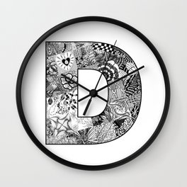 Cutout Letter D Wall Clock