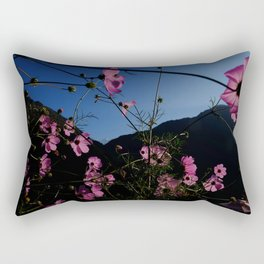 Flowers and a fishtail Rectangular Pillow
