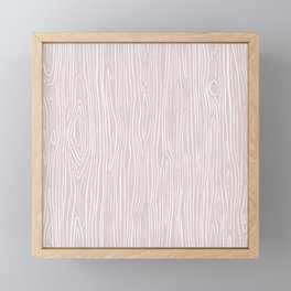 Wood Grain (Pink) Framed Mini Art Print