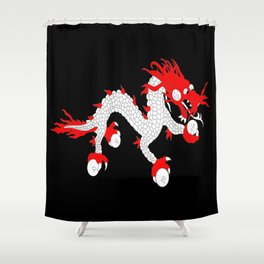 Dragon-A variation on the flag of Bhutan. Shower Curtain