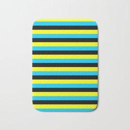 bahamas flag stripes Bath Mat