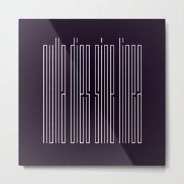 nulla dies sine linea / not a day without a line Metal Print