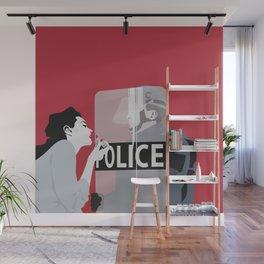 Red woman n3 Wall Mural