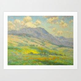 Granville Redmond Hazy Day in Antelope Valley, 1932 Oil Painting Vintage American Art Art Print