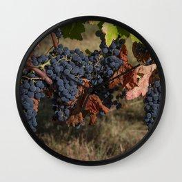 Vineyard Grape Clusters Wall Clock