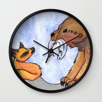 gift card Wall Clocks featuring Gift by Sparki Wolf